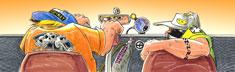 Teens Out Cruizing - Orange