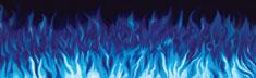 Flames Blue
